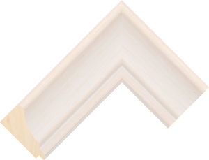 302736127 White LJE Moulding Chevron