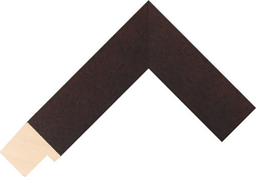 Corner sample of Wenge Flat Ayous Frame Moulding