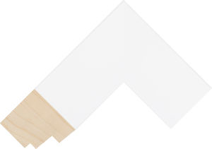332127000 White LJE Moulding Chevron