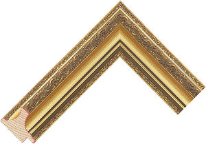 3541ed Gold LJE Moulding Chevron
