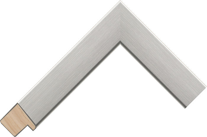 32mm Wide Silver Flat Radiata Pine Picture Frame Moulding #374660
