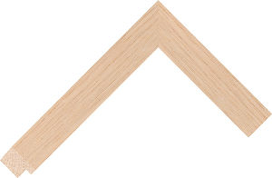 390200000 Barewood LJC Barefaced Oak Moulding Chevron