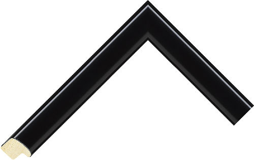 Corner sample of Black Cushion Agathis Frame Moulding
