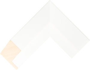 415220127 White LJE Float Moulding Chevron