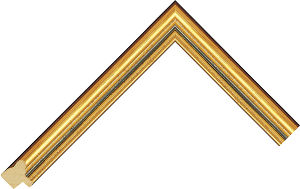 418801238 Gold LJE Moulding Chevron