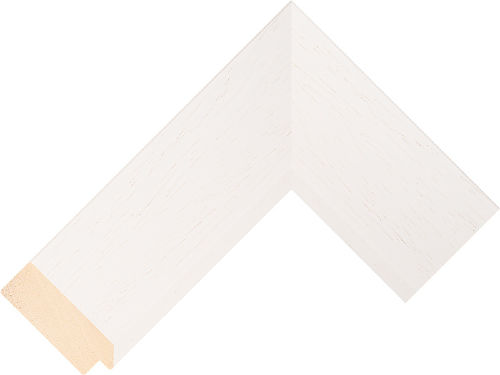 Corner sample of White Flat Ayous Frame Moulding