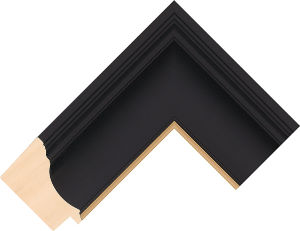 432167246 Black LJC Urbane Moulding Chevron