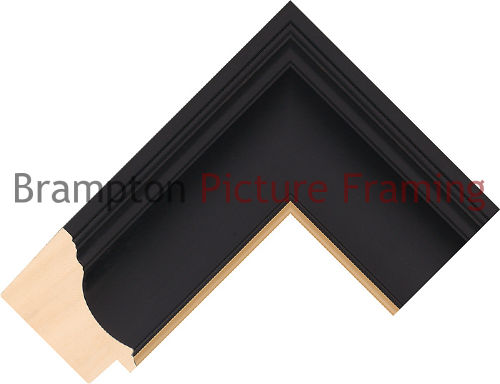 3m pack of 64mm wide Foil/Paint Ayous Black/Gold Picture Frame ...
