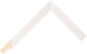 434000127 White LJC Coastal Woods Moulding Chevron