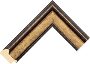 435303 Gold LJS Canaletto Moulding Chevron