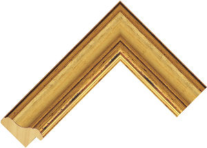 438245000 Gold LJE Moulding Chevron