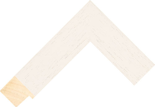 Corner sample of Ivory Flat Ayous Frame Moulding