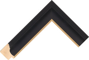 450167246 Black LJC Urbane Moulding Chevron