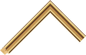 450246000 Gold LJE Moulding Chevron