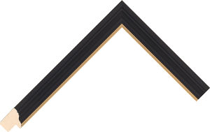 455167246 Black LJC Urbane Moulding Chevron