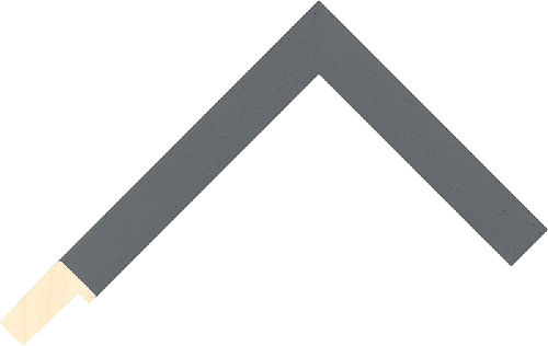 Corner sample of Grey Flat Ayous Frame Moulding