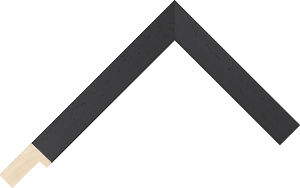 466000167 Black Coastal Woods Moulding Chevron