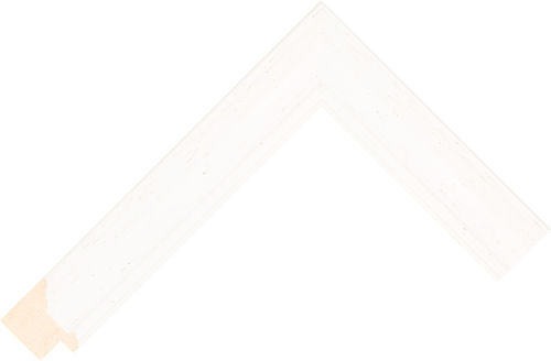 Corner sample of White Scoop Ayous Frame Moulding