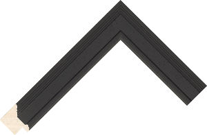 471000167 Black Lincoln Moulding Chevron