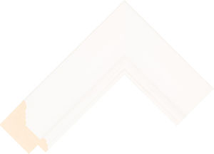 473000127 White LJC Lincoln Moulding Chevron