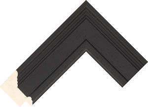 473000167 Black Lincoln Moulding Chevron