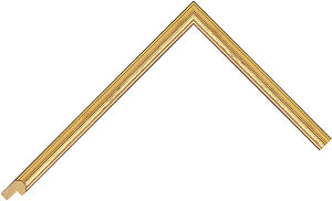 482247000 Gold LJE Moulding Chevron