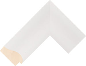 486000127 White LJC Coastal Woods Moulding Chevron