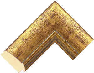 560920247 Gold LJE Moulding Chevron