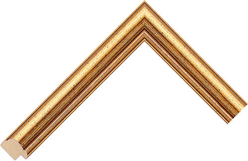 Corner sample of Gold Cushion Pine Frame Moulding
