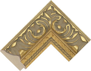632247000 Gold LJE Moulding Chevron