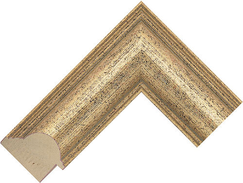 Corner sample of Gold Dome Pine Frame Moulding