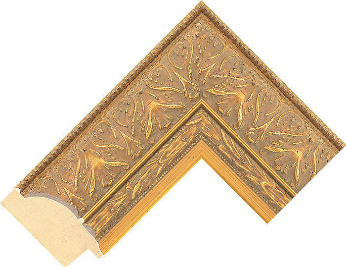 63mm wide gold dome ayous picture frame moulding 643ig