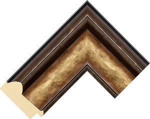 645303 Gold LJS Canaletto Moulding Chevron