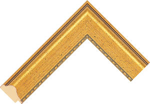 691246000 Gold LJE Moulding Chevron