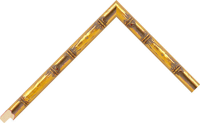 11mm Wide Gold Bamboo Perupuk Picture Frame Moulding #702004246
