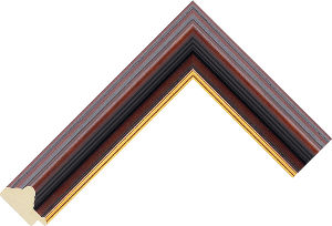 709545400 Wood, Dark LJE Moulding Chevron