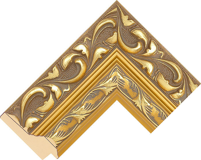 75mm Wide Gold Reverse Pine Picture Frame Moulding #770241000 | DIY ...
