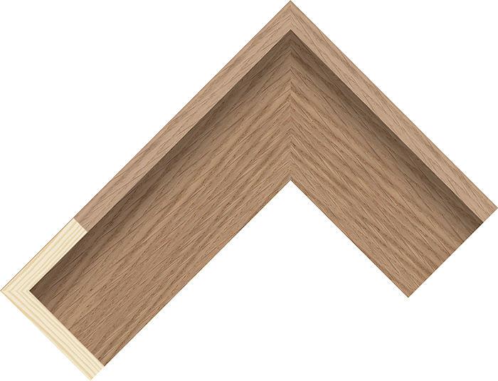 55mm Wide Oak Canvas Box Pine Picture Frame Moulding #991246115