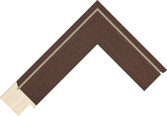 40mm Wide Wenge Flat Pine Picture Frame Moulding #991261117   DIY ...