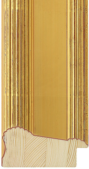 80mm Wide Gold Dome Pine Picture Frame Moulding 768408