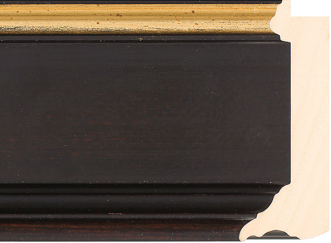 105mm Wide Black Gold Spoon Ayous Picture Frame Moulding
