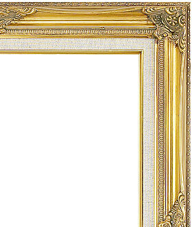 Gold with linen liner swept picture frame ref 626693 buy for Best place to buy frames online