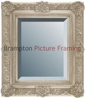 Ornate Silver Framed Mirror Bevelled Vintageantique Small Med