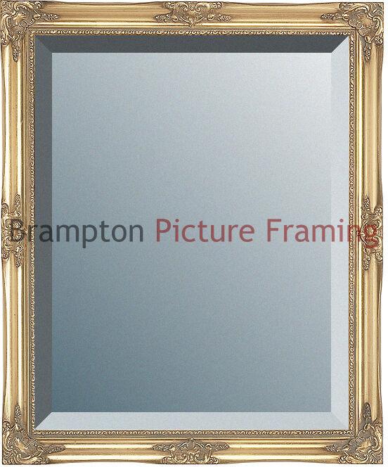 Ornate Gold Framed Mirror (Bevelled) Vintage/Antique + Small, Med ...