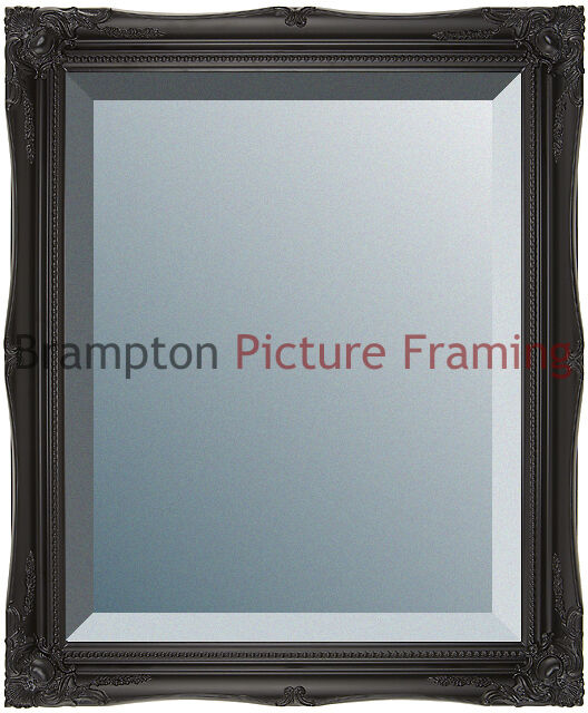Ornate Black Framed Mirror (Bevelled) Vintage/Antique + Small, Med ...