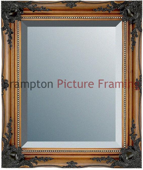 Ornate Walnut/Gold Framed Mirror (Bevelled) Vintage/Antique + Small ...