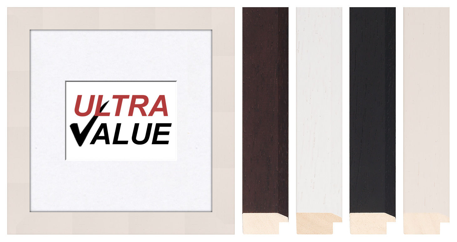 ULTRA Value Wooden Photo Picture Frame With Mounts to Fit A6 A5 A4 ...